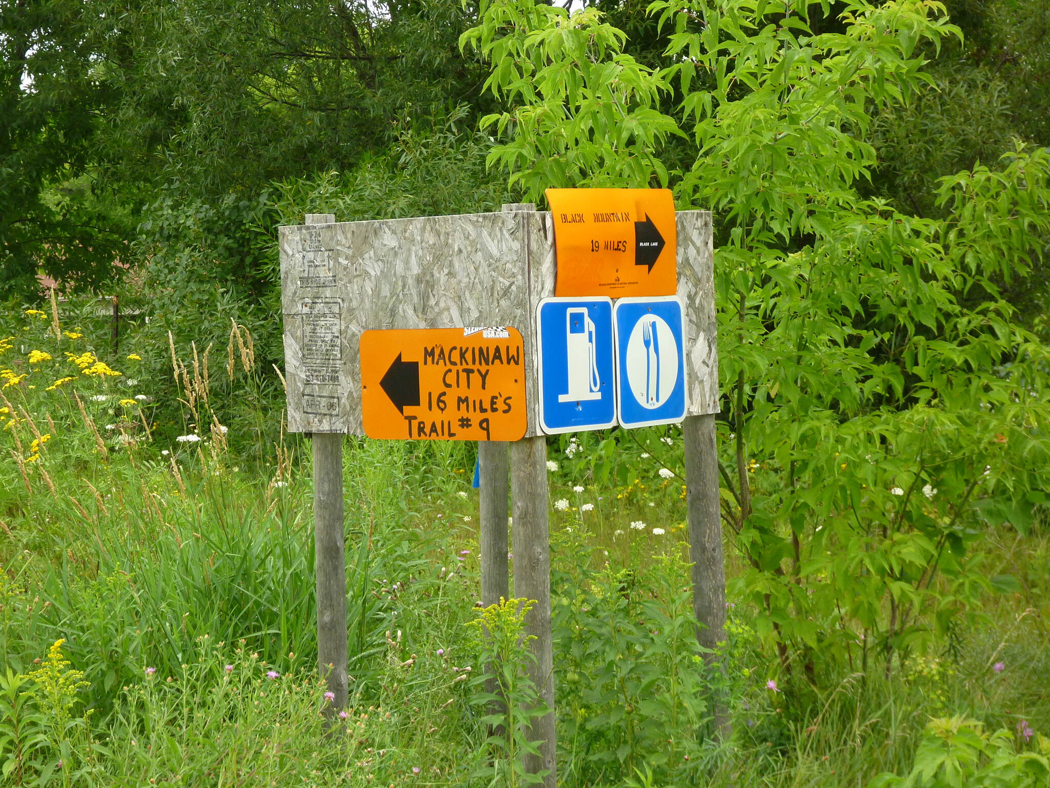 North Central State Trail Trail near Cheboygan This is what the signs looked like in August 2010.