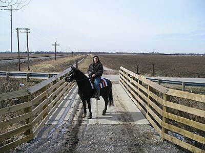 North Coast Inland Trail (Huron County) The only public bridle trail in Huron County The NCIT in Huron County is a true multi-use trail.  This view looks west at the Halfway Road Bridge near Monroeville.  Photo by: Bill Dupont