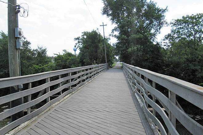 North Coast Inland Trail (Huron County) Bridge decking over Portage River Bridge decking over the Portage River just outside of Elmore