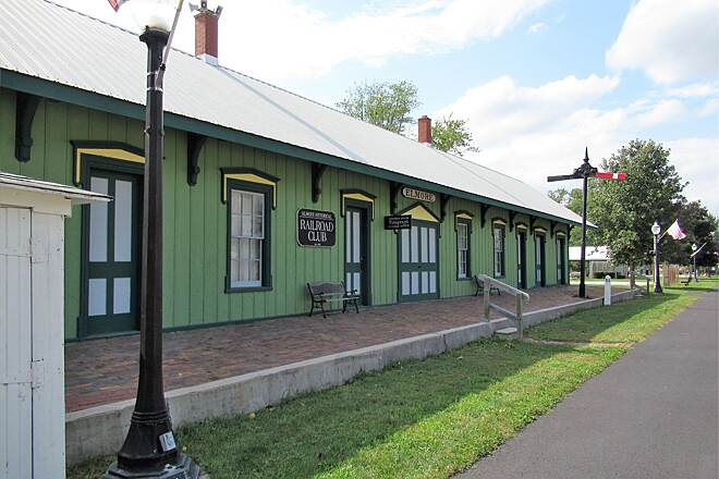 North Coast Inland Trail (Huron County) Historic Train Station in Elmore Trailhead at the Historic Train Station in Elmore. Parking nearby.