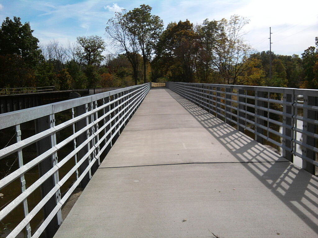 North Coast Inland Trail (Huron County) new bridge over river Monroville