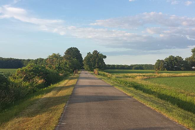North Coast Inland Trail (Lorain County) Beautiful landscape view just passed New Russia Rd.