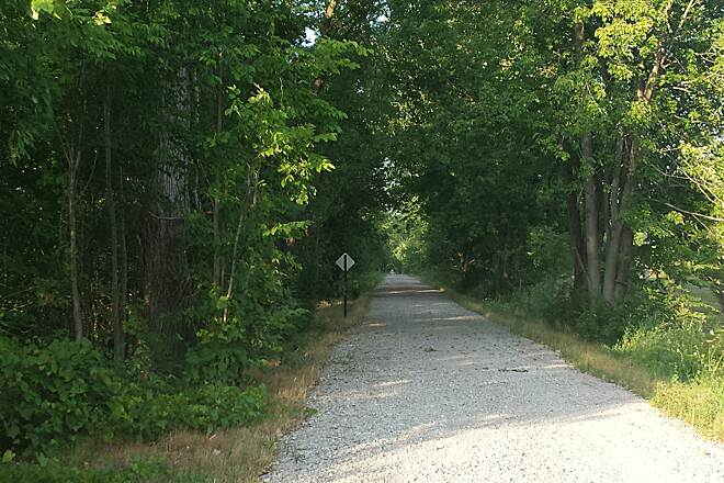 North Coast Inland Trail (Lorain County) Gravel extension after trail end in Kipton. (by Gore Orphanage Rd.)