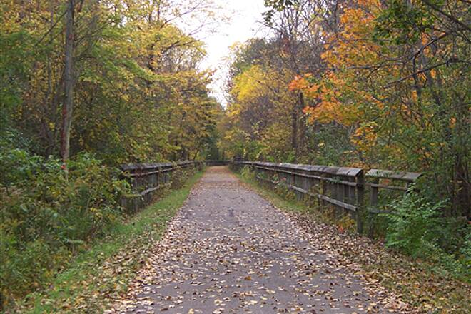 North Coast Inland Trail (Lorain County) Oberlin trailway fall 2010- near trestle