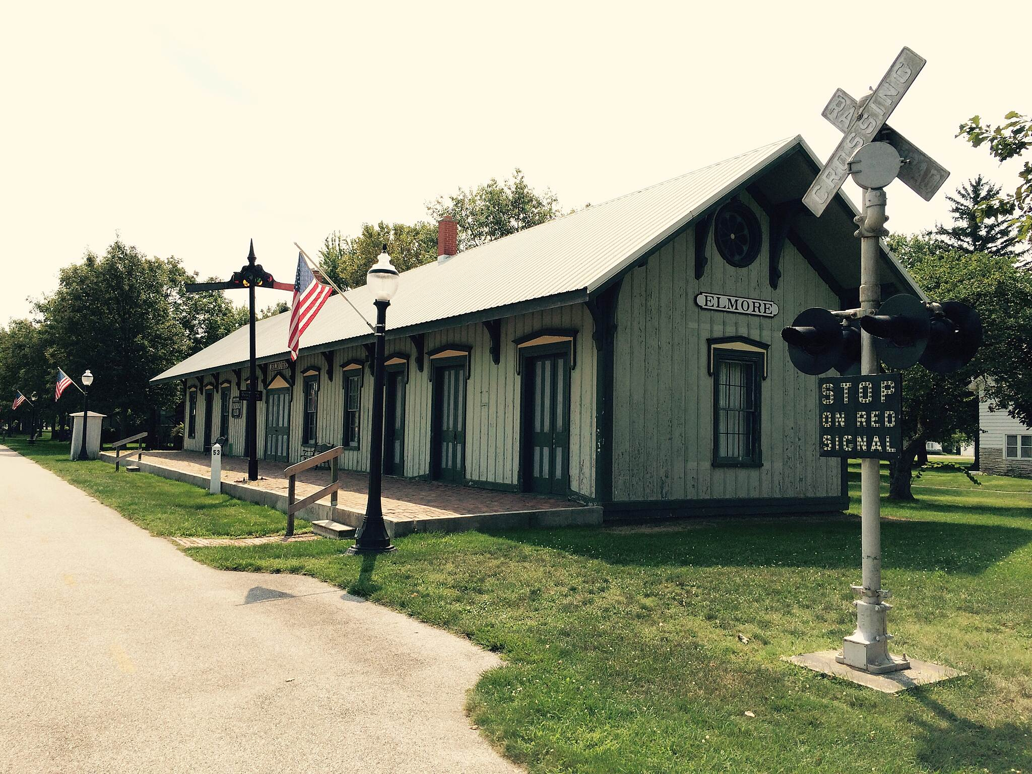 North Coast Inland Trail (Sandusky and Ottawa Counties) Elmore depot