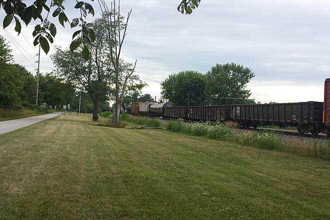North Coast Inland Trail (Sandusky and Ottawa Counties) Nice to bike along beside a moving train.