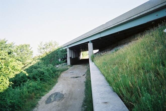 North Coast Inland Trail (Sandusky and Ottawa Counties) Turnpike Underpass US80/90 Turnpike underpass near Elmore, Ohio. At intersection of Waggoner road (CR82), and Behring road (cr147).