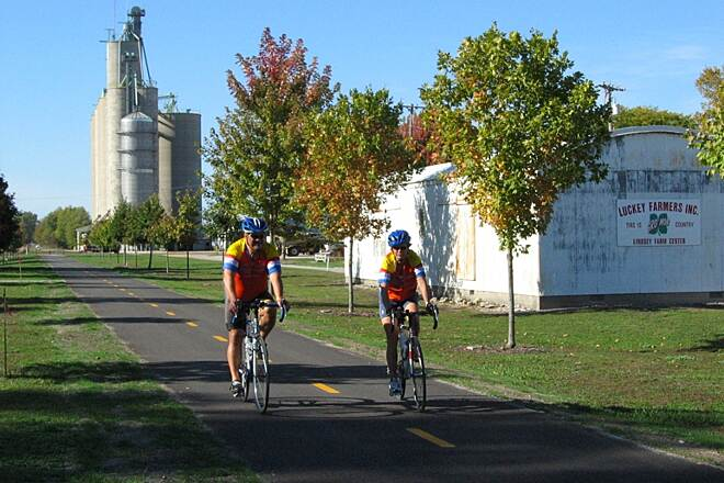 North Coast Inland Trail (Sandusky and Ottawa Counties) Riders in the town of Lindsey