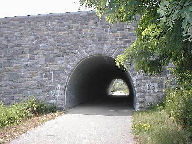 North County Trailway North County Trailway Trail passing under Route 117 near Pleasantville, NY.