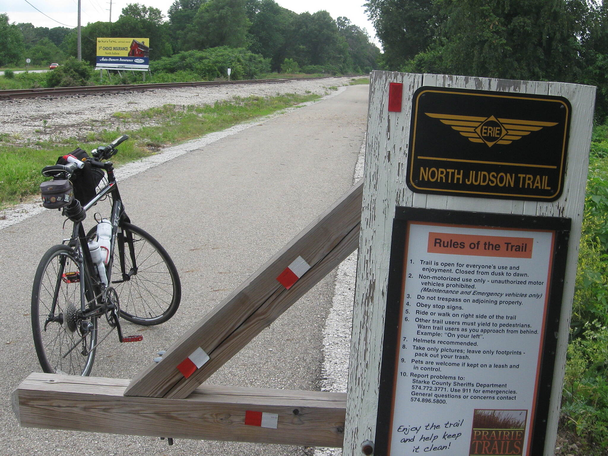 North Judson Erie Trail NJET Sign