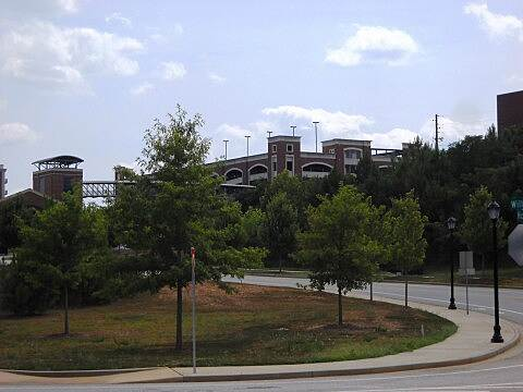 North Oconee River Greenway North Oconee River Greenway - Athens GA Univ of GA's Sanford Stadium from trail - Athens GA