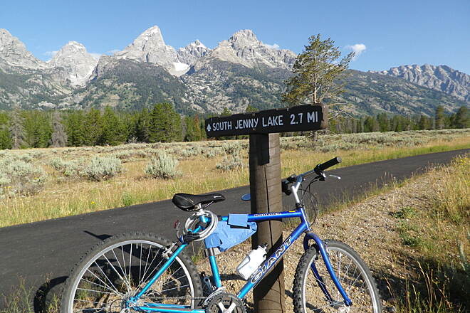 North Pathway Riding the Grand Tetons trail A beautiful ride.