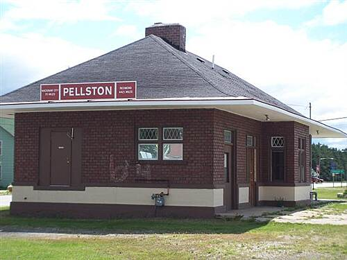 North Western State Trail  Train depot in Pellson