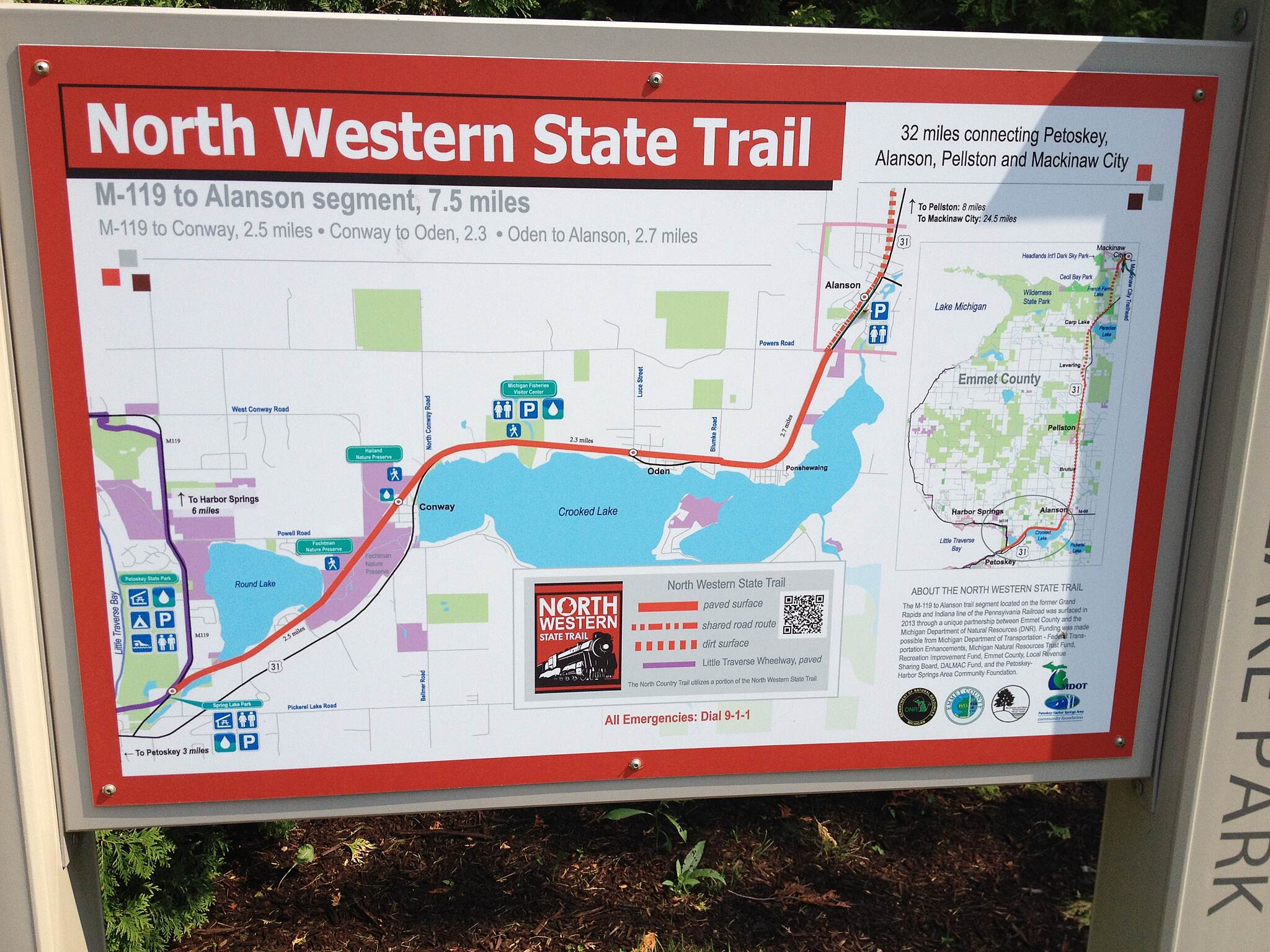 North Western State Trail Map of New Trail Map of New Trail