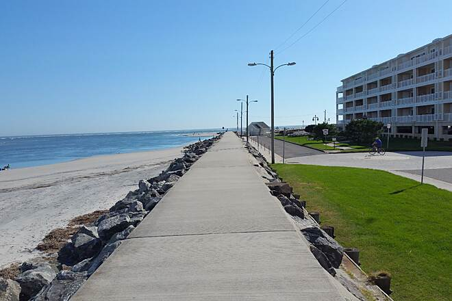 North Wildwood Seawall Trail The Seawall An interesting view, location, Pine Ave.