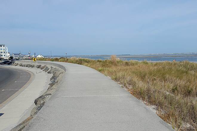 North Wildwood Seawall Trail The Great Protector A scenic view of the area, location, Central Ave.