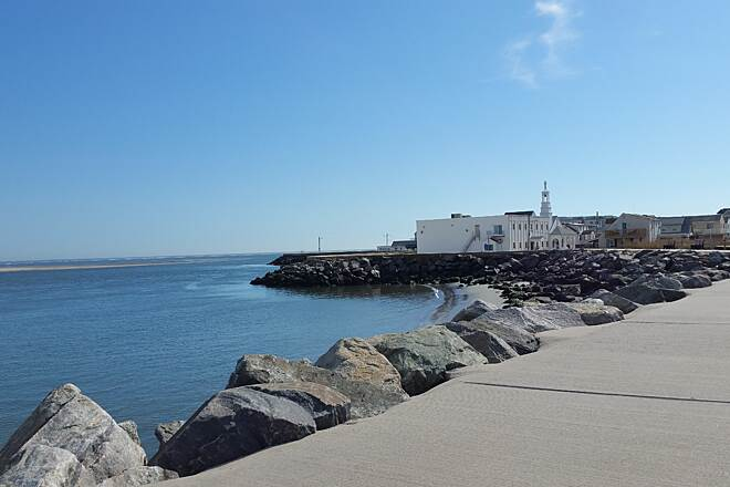 North Wildwood Seawall Trail The Seawall near the Greek Orthodox Church An interesting picture at the seashore