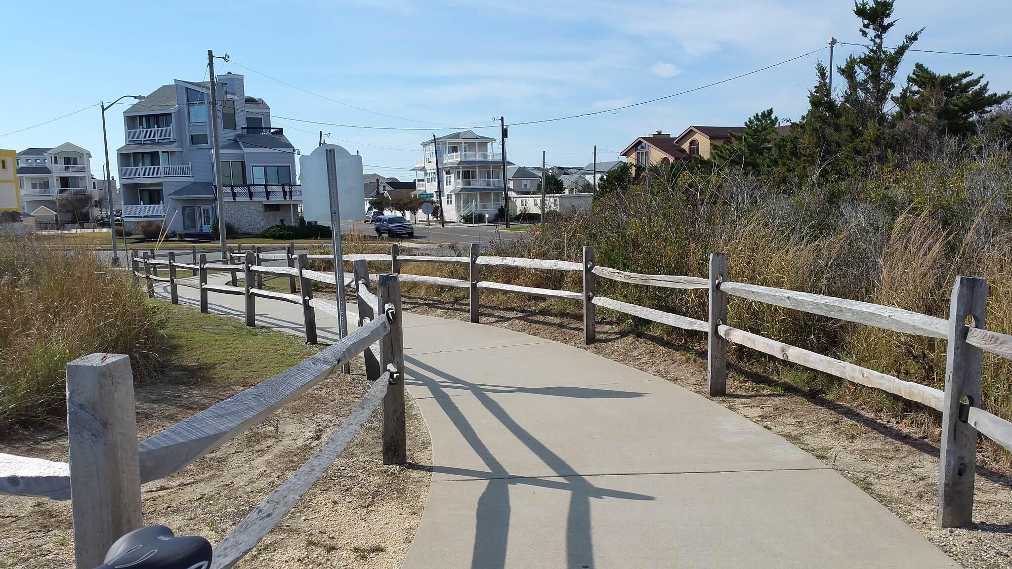 North Wildwood Seawall Trail  A Pathway To The Seawall  A nice shot of access path to the seawall. Location, just off Anglesea Dr.