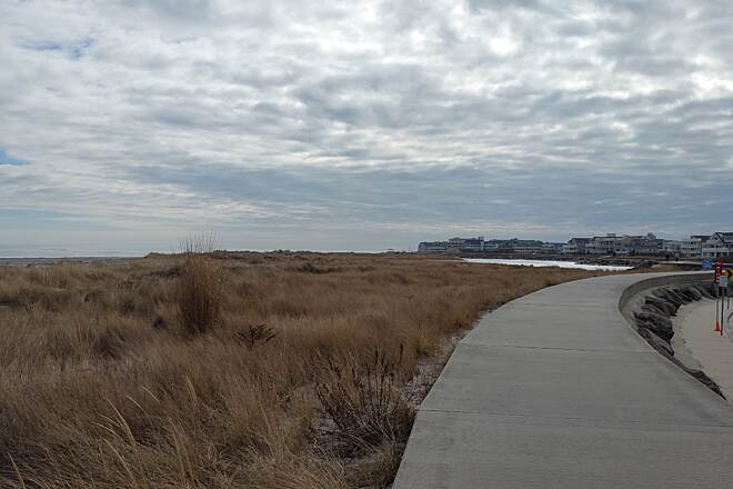 North Wildwood Seawall Trail On The Seawall In January Location About middle distance of seawall. Just a very different look by mother nature.