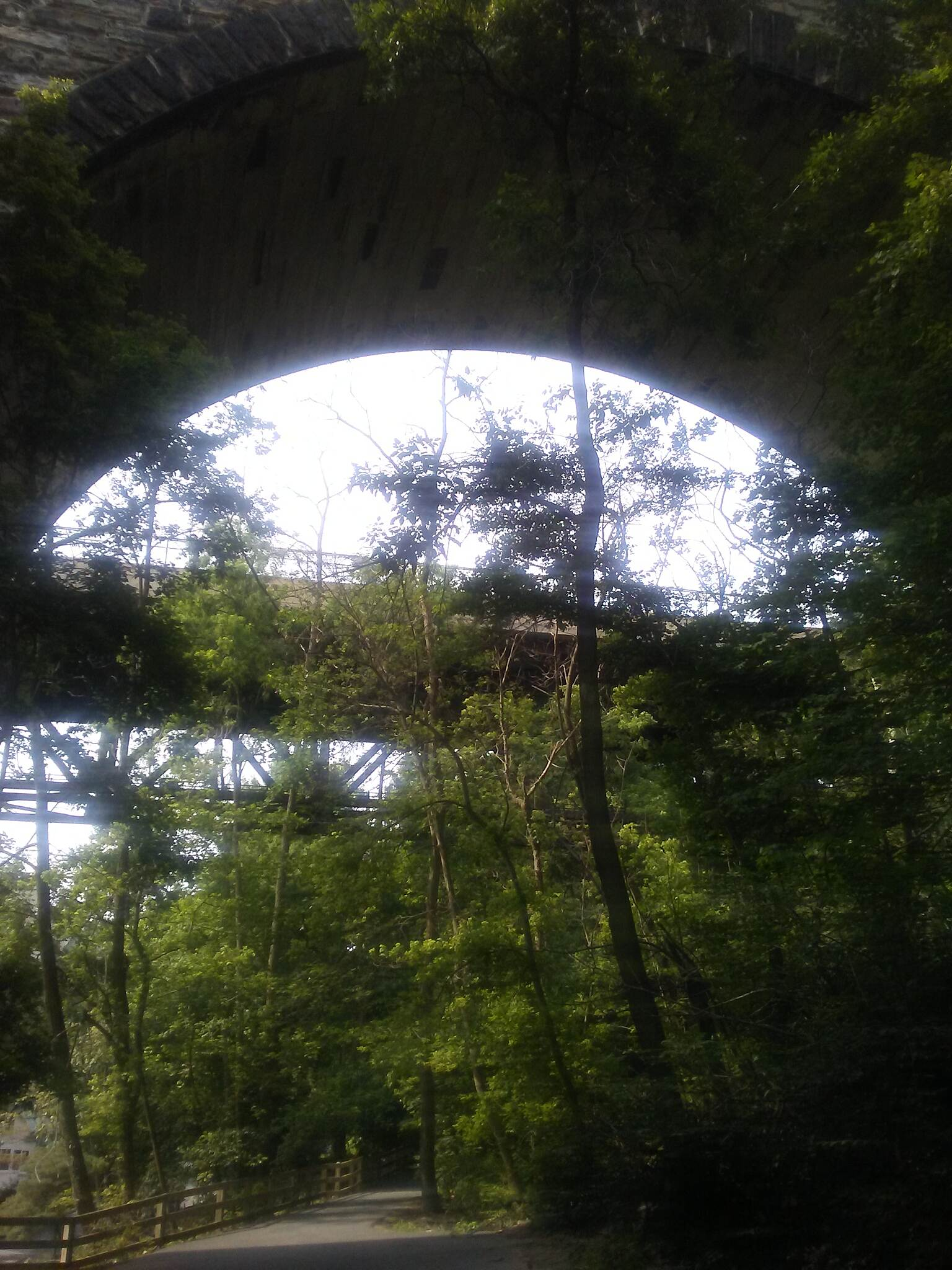 Northern Delaware Greenway Trail Northern Delaware Greenway Looking north from beneath the trestle that carries the CSX RR over the Brandywine River and valley in Wilmington.