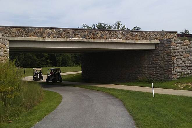 Northern Delaware Greenway Trail Northern Delaware Greenway The trail shares this underpass beneath East Park Drive with a path for golf carts in the adjacent Rock Manor Golf Course.