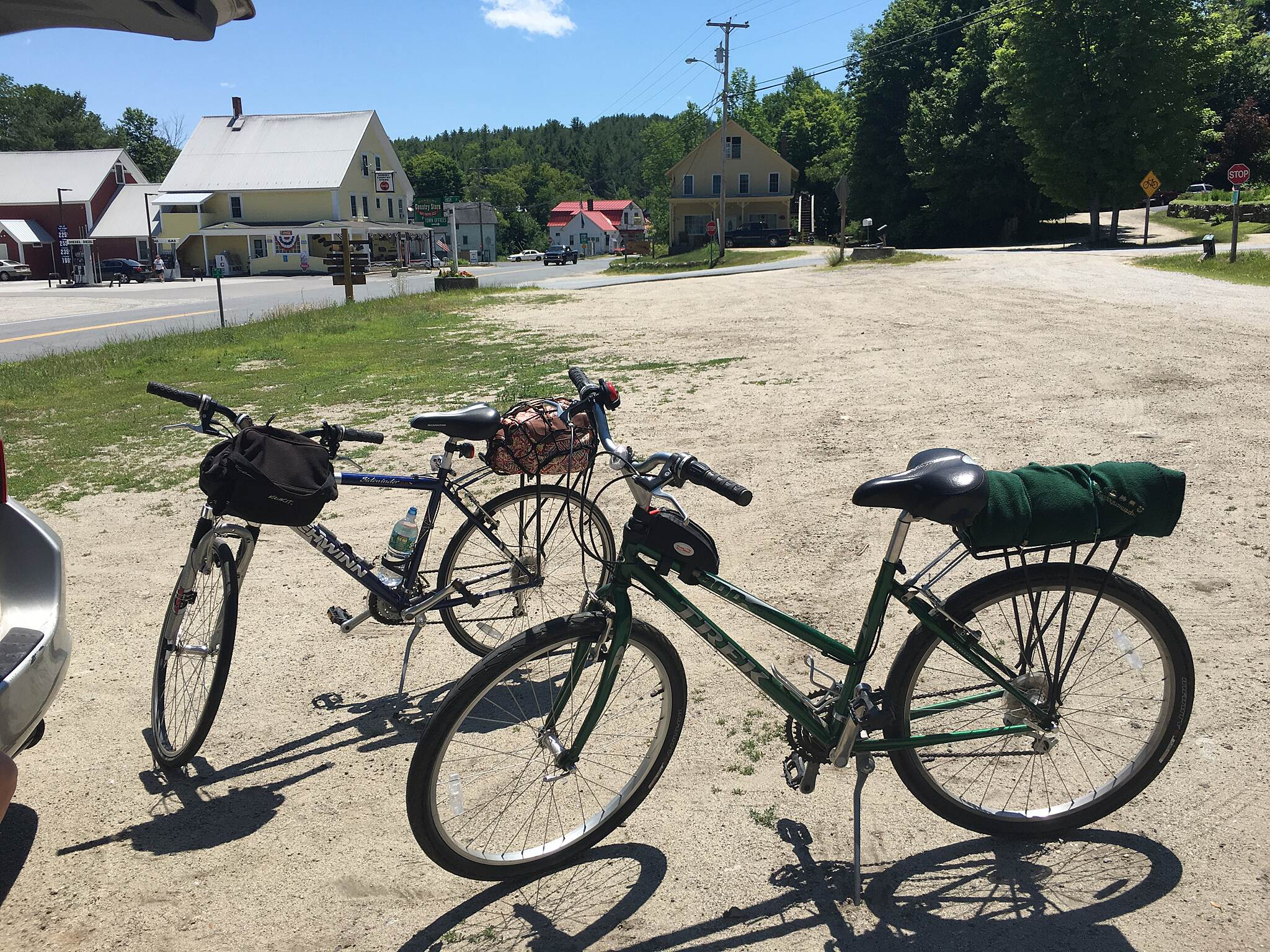 Northern Rail Trail Danbury across from country store - great stop for food (lunch & ice cream!) also has very clean bathroom
