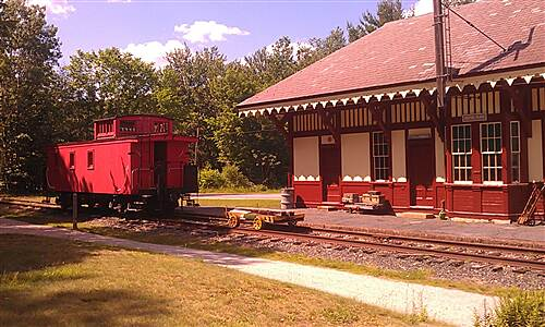 Northern Rail Trail Northern Rail Trail passes Potter Place (Andover, NH) The Potter Place Station, caboose, and general store historical sites are worth a look when you get to Andover, NH on the Northern Rail Trail