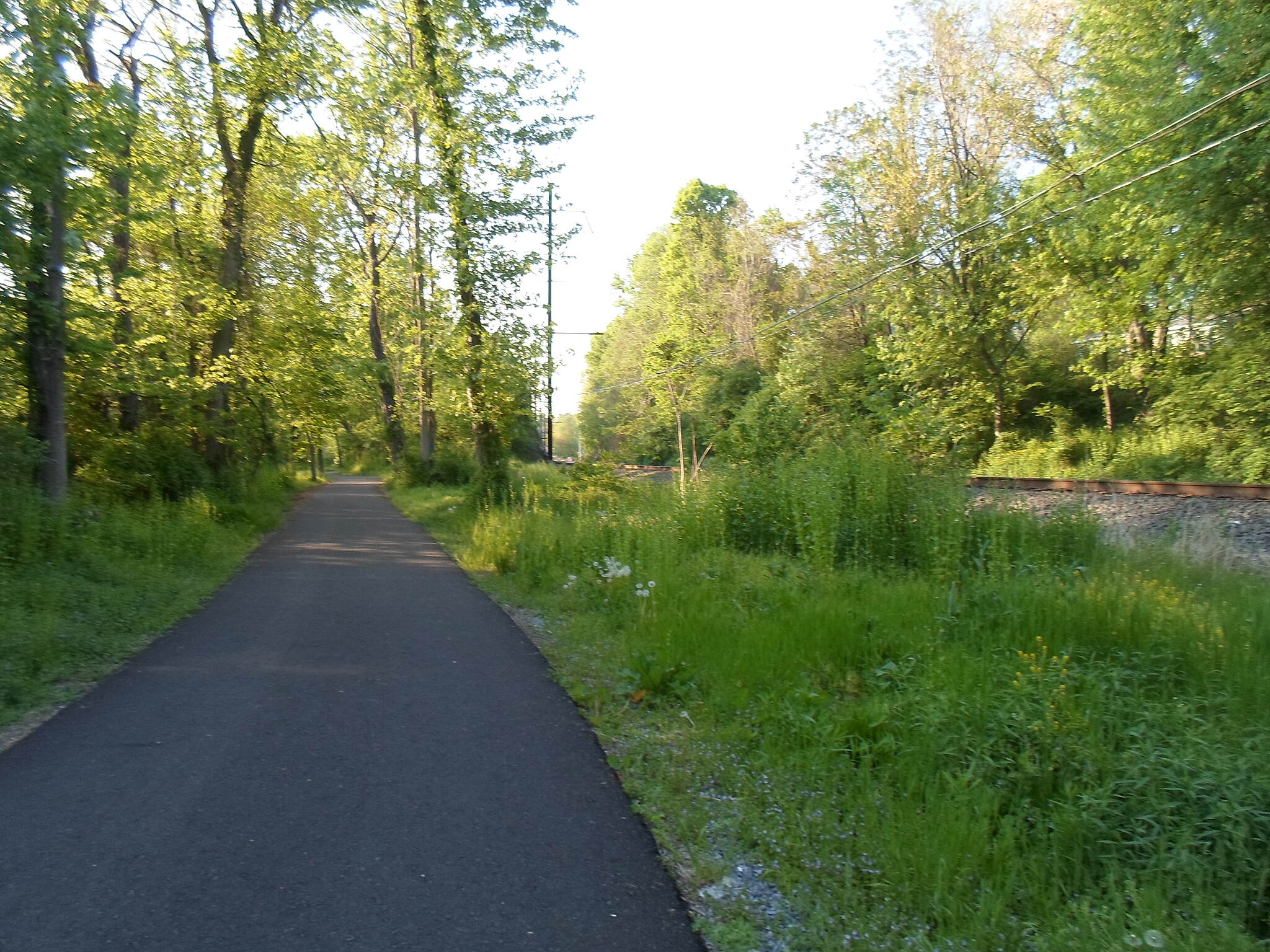 Northwest Lancaster County River Trail Northwest River Trail The trail parallels active, Norfolk Southern freight lines for much of its length. This photo was taken south of Bainbridge on a warm, spring evening in May 2015.