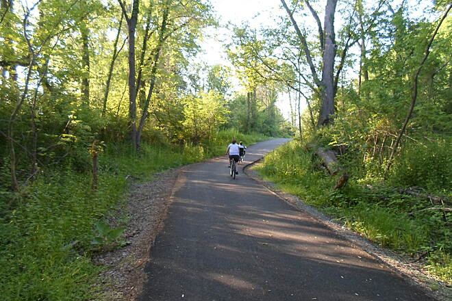 Northwest Lancaster County River Trail Northwest River Trail Cyclists heading down the trail south of Bainbridge. Taken May 2015.