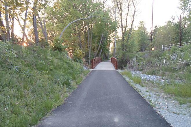 Northwest Lancaster County River Trail Northwest River Trail Approaching the bridge over Conoy Creek south of Bainbridge. Taken May 2015.