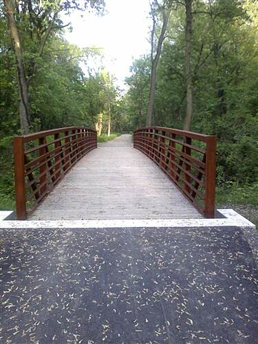 Northwest Lancaster County River Trail Northwest River Trail At the bridge over a small stream, approx. halfway down the trail
