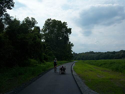 Northwest Lancaster County River Trail Northwest Lancaster County River Trail I encountered this couple enjoying the trail with their cycles.