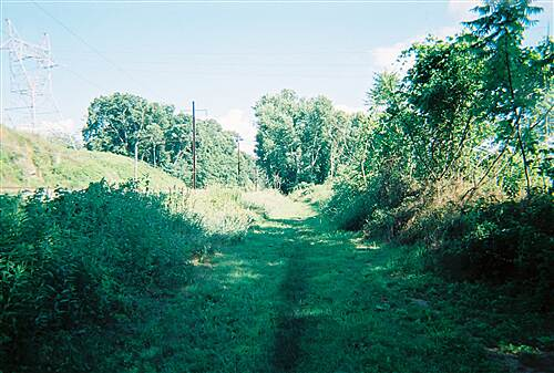 Northwest Lancaster County River Trail Conoy Canal/Northwest Lancaster County River Trail The sun returns as the trail cuts across the right-of-way for another powerline.