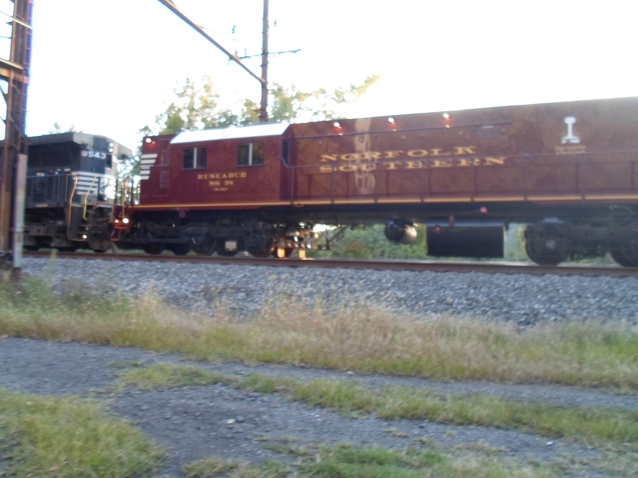 Northwest Lancaster County River Trail Northwest River Trail This Norfolk Southern train, with retro-historical designs to its lettering, passed by the trail at the foot of Chickies Rock. Taken Sept. 2014.