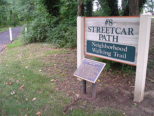 Number Eight Streetcar Path