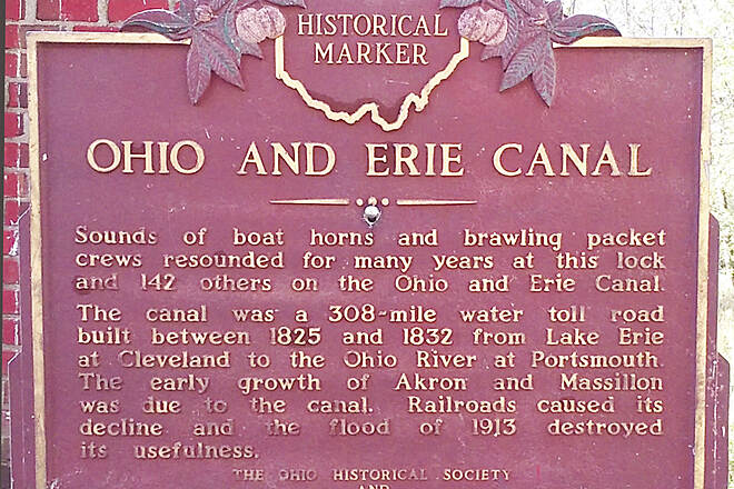 Ohio & Erie Canal Towpath Trail Oct 2016 Canal Fulton, Lock No. 4 Ohio Historical Marker