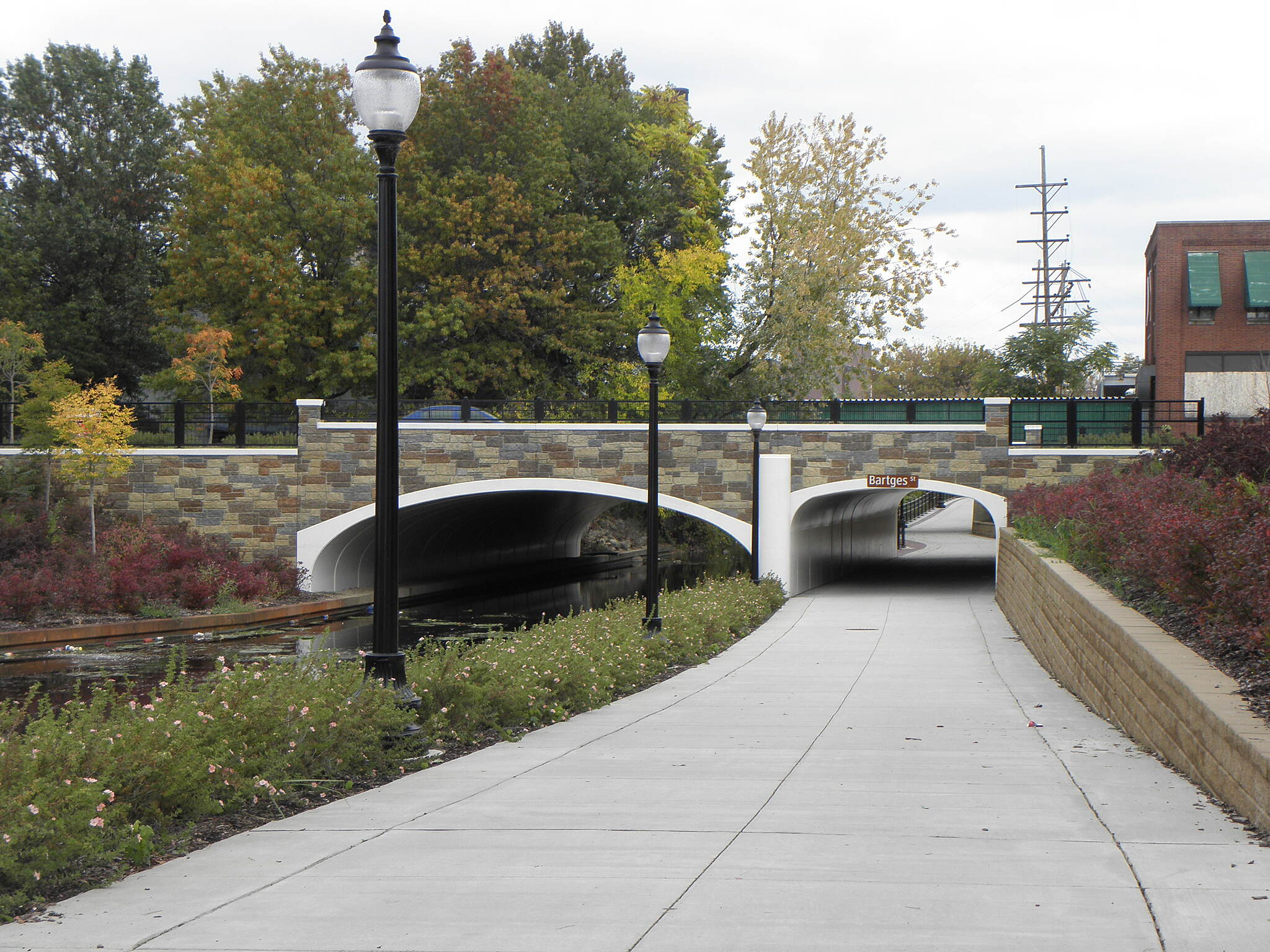 Ohio & Erie Canal Towpath Trail Trail crossing under Bartges Street in Akron