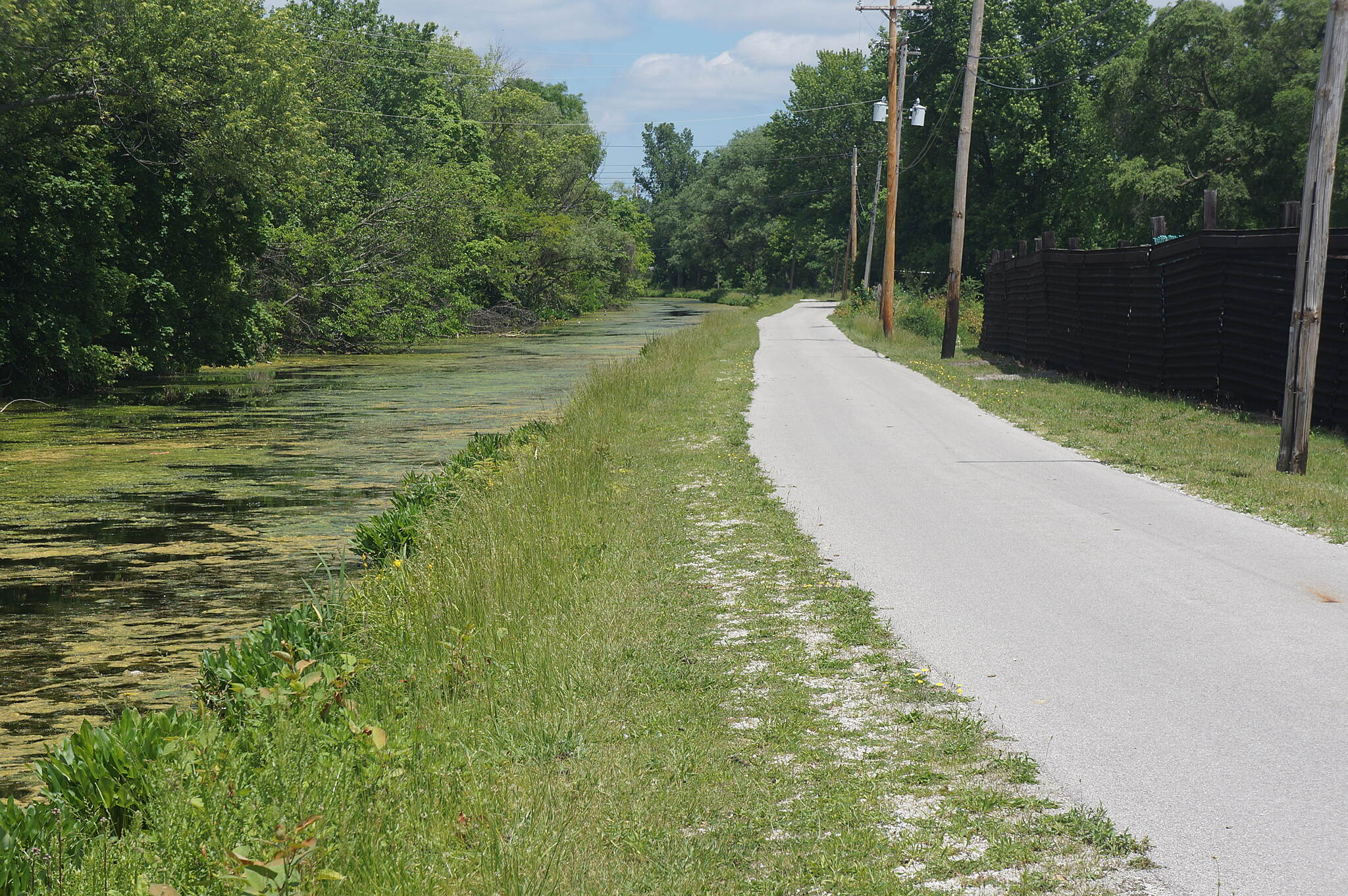Ohio & Erie Canal Towpath Trail South of Barberton Looking north toward Barberton This is not the prettiest part of the trail with the junkyards to the right.