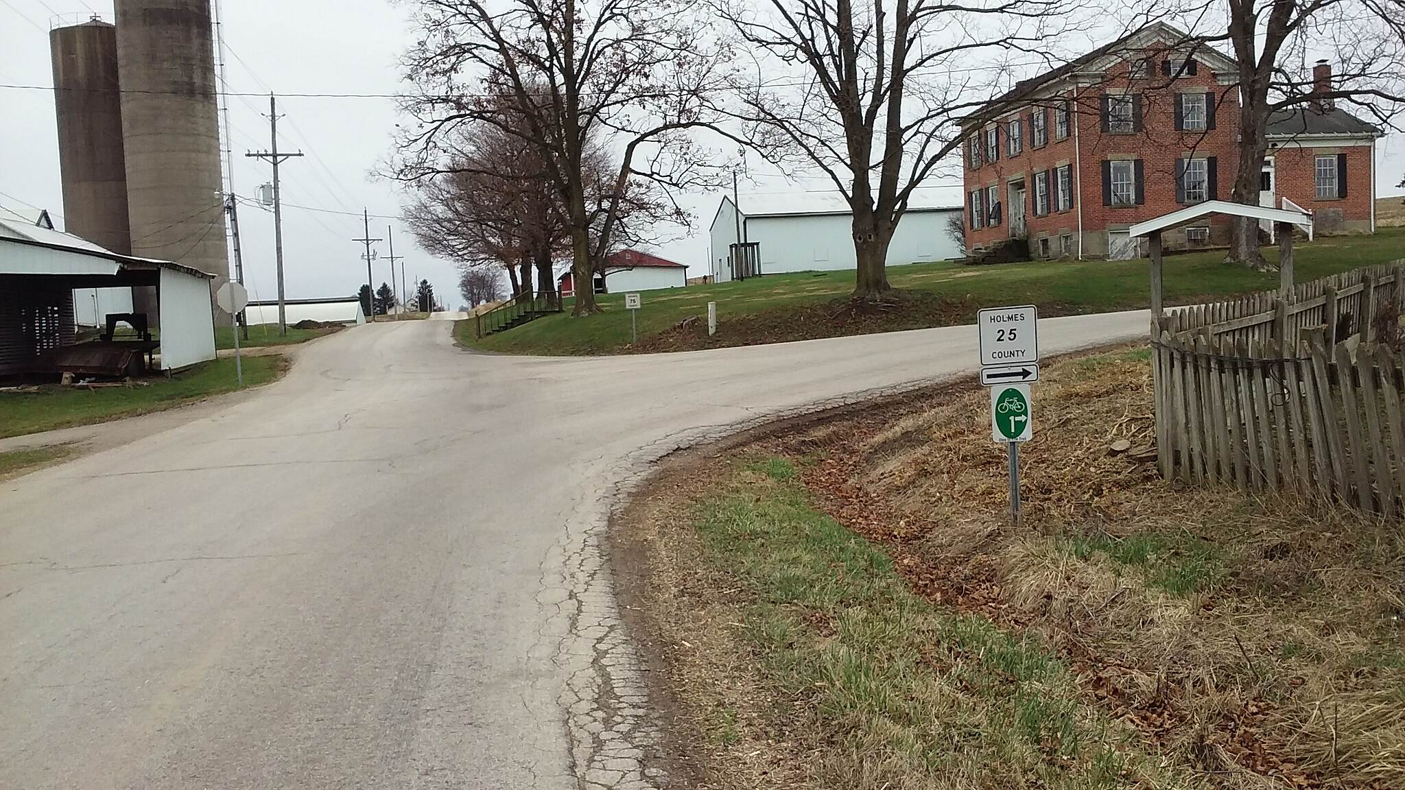 Ohio to Erie Trail Northbound December 2015 Brinkhaven to Killbuck road route