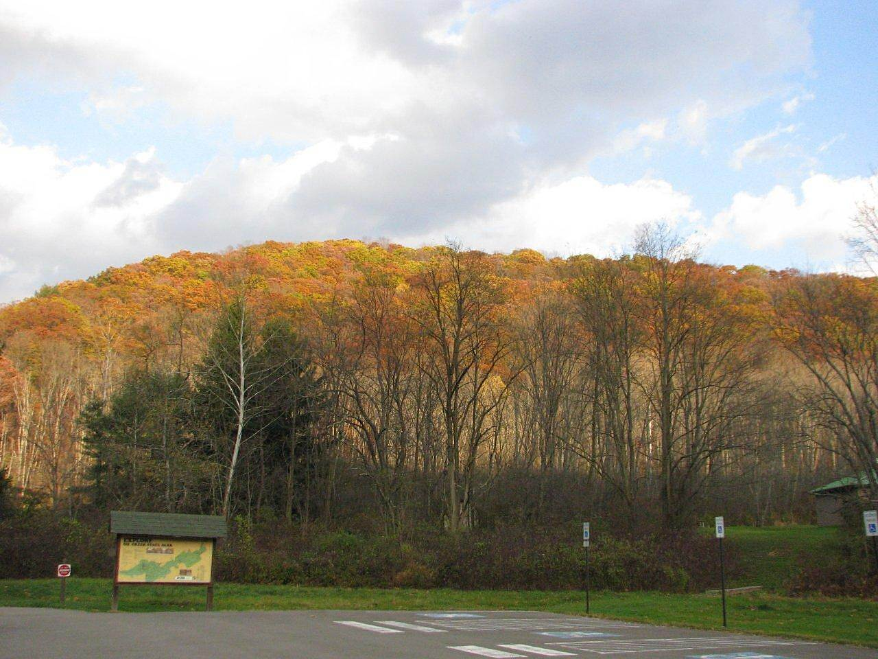 Oil Creek State Park Trail Parking Area Parking area at Oil Creek State Park office.  petroleum Center, PA
