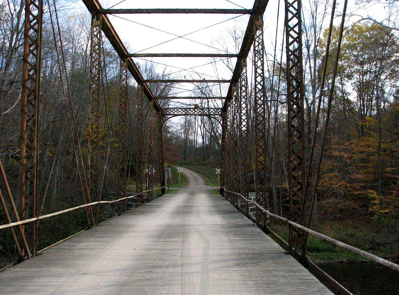 Oil Creek State Park Trail Off the trail Just off the trail is this bridge