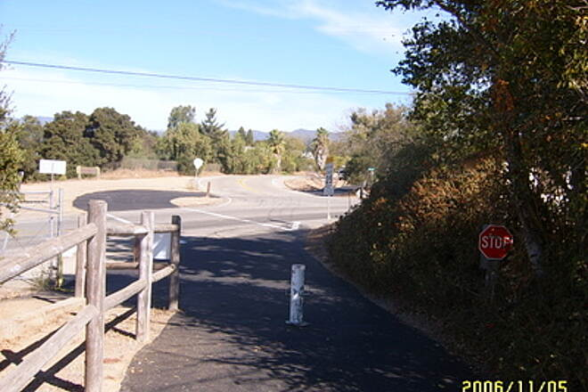 Ojai Valley Trail Intersection of Valley Rd and Monta Viaduct To correct Photo mislabeled 'Crossing Road and Hwy 33'