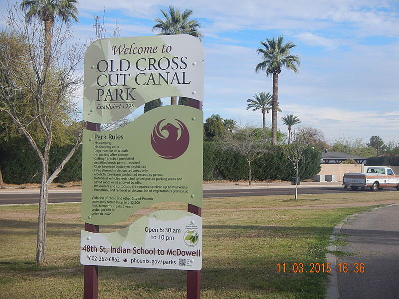 Old Cross Cut Canal Park Path The Sign