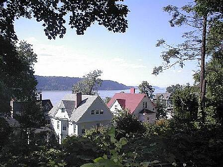 Old Croton Aqueduct Trail Old Croton Aqueduct State Historic Park A view of the Hudson River and Palisades Cliffs from the trail near Yonkers.