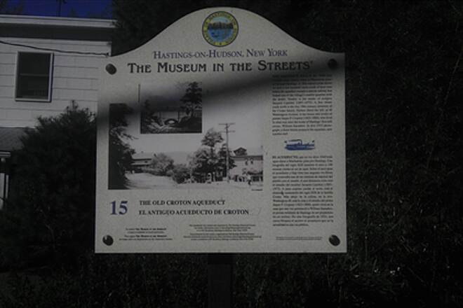 Old Croton Aqueduct Trail Hasting on the Hudson -  museum in the street sign Hasting on the Hudson museum in the Street sign