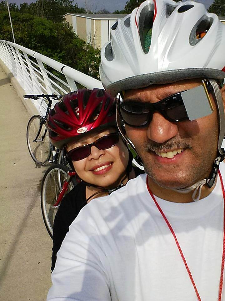 Old Plank Road Trail On the Bridge On OPT Riding on the bridge on OPT