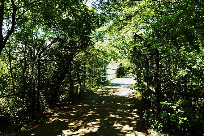 Old Plank Road Trail Nice bridge Bridge over road. Taken 7-14-17.