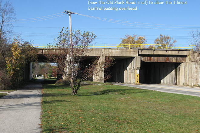 Old Plank Road Trail IC underpass