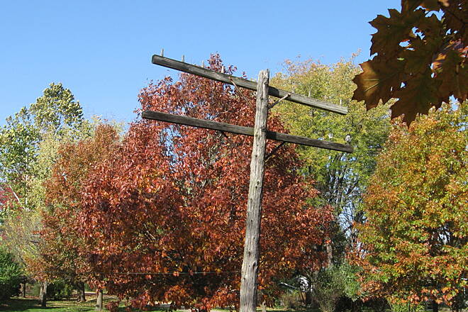 Old Plank Road Trail MC Telegraph Pole