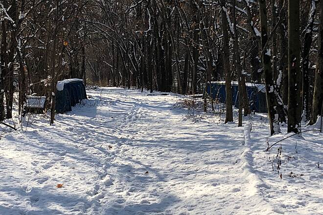 Old Putnam Trail Putnam Trail in the Snow The Putnam Trail in the Snow.  December 2017